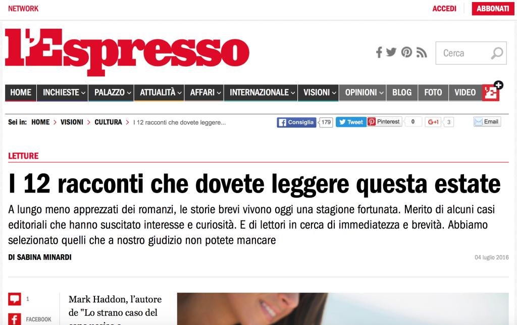 Racconti edizioni l'Espresso
